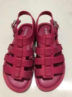 Mini Melissa - Dark Pink Sandles
