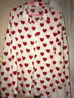 Korean heart long sleeve