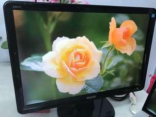 "Philips 22"" monitor (DVI/ VGA) 飛利普22吋顯示器 不議價"