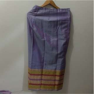 Purple Songket Long Skirt (perfect for kondangan)