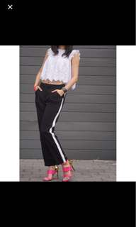 Topshop trousers with stripe