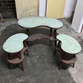 Vintage Teak Kidney Coffee Tables