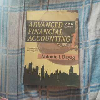 Advanced Financial Accounting 2016 Edition