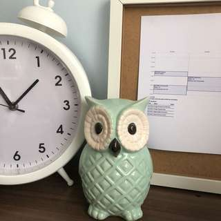 baby blue owl decor