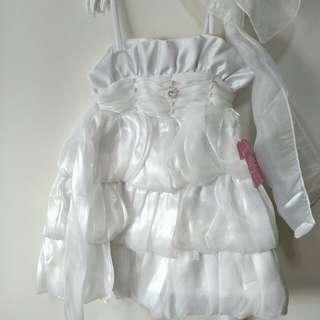 兒童禮服。兒童裙子 白色裙子