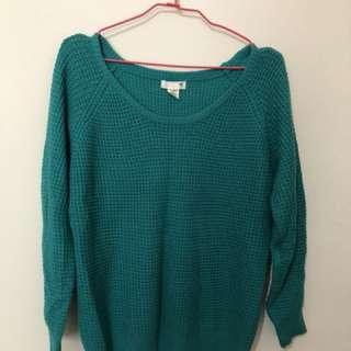 50% 綠色針織毛衣
