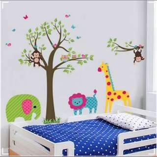 🎁( 4 Designs . $12 Each )Cartoon Animal Crossing Wall Stickers Kindergarten Children's Bedroom Bedroom Bedside Living Room Background Wall Decorations Sticker Home decor