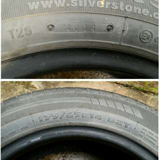 Silverstone tyre 175/65/R14 (used)