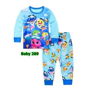 Baby shark pyjamas set