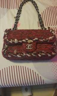 九成半新 Chanel medium size handbag 斜咩手袋