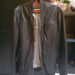 FS zara man genuine leather jacket sz S fit M