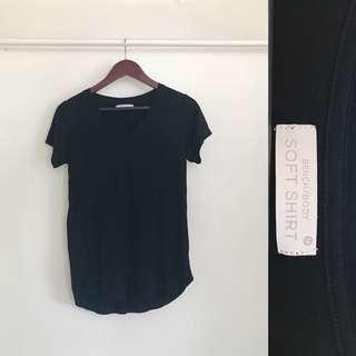 Bench Black V-Neck Shirt