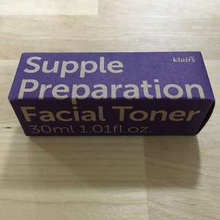 BNIB Dear,Klairs Supple Preparation Toner 30ml