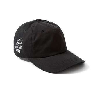 全新Anti social club Cap 帽