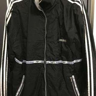 Adidas 老品 防風外套 深藍 L