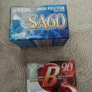 Brand new cassettes, TDK SA60 n B90
