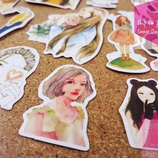 《READY STOCK》33pcs Fashion Girl Stickers