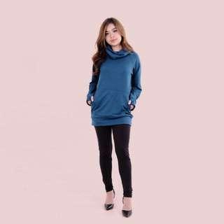 Aqua Blue Ciwl Neck Sweater
