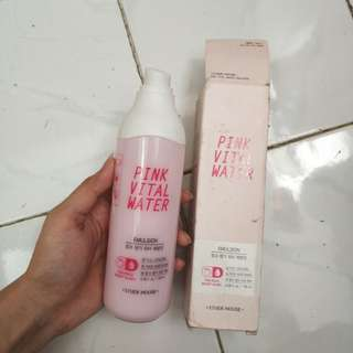 Etude house pink vital water emulsion