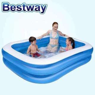 BESTWAY Blue Rectangular Family Size Pool