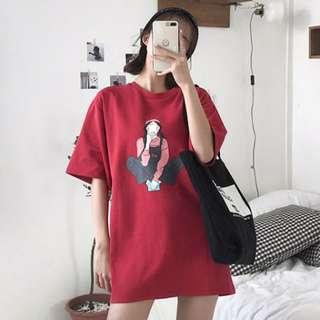 🌸[ PO ] Ulzzang Harajuku Chic Long Shirt