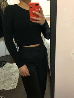 Babaton Cropped Sweater XXS