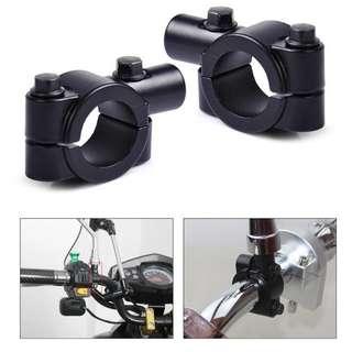 Handlebar Mirror Holder/Bracket Mounting Clamps