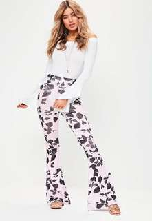Flared Floral Pants