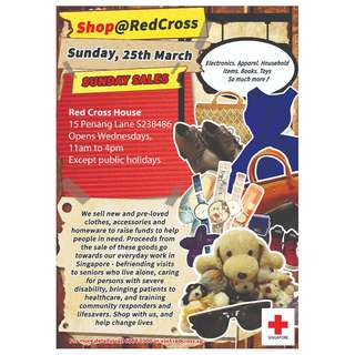 Shop@Red Cross Sunday Sale on 25 March 2018