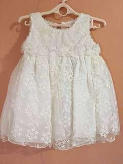 Elle Infant White Dress
