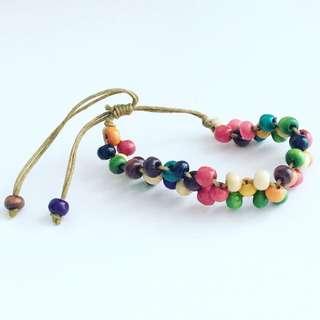 Rainbow wooden bracelet