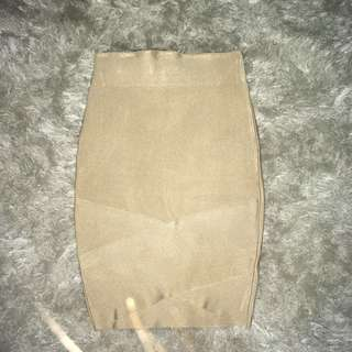 Gold Bandage Pencil Skirt