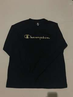 Champion crewneck black gold