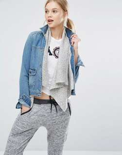 A&F Denim Jacket with Wool Underlayer