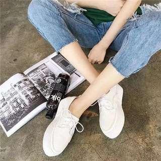 超好穿💕店長大推👍厚底小白松糕鞋繫帶厚底鞋