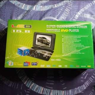"Brandnew portable dvd, 15.8"" screen, complete set, no issue"