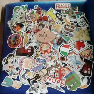 Stack of laptop etc stickers