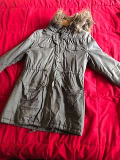 Khaki winter coat