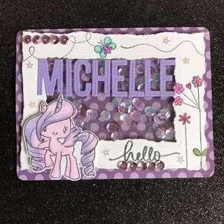Pony shaker card