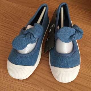 🚚 BabyZZam 女童牛仔便鞋(18cm)韓國買回