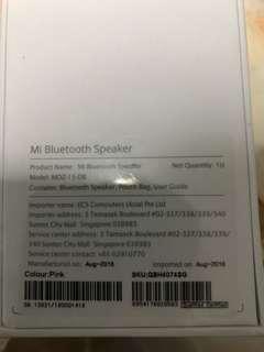 BNIP Xiaomi Bluetooth speaker (pink) MDZ-15-DB
