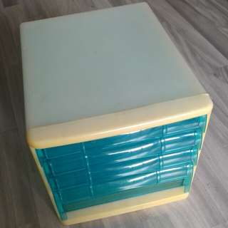 Off White Blue Plastic Avantte-EX A4 4 4-Tier Tiers Levels Layers Letters Documents Trays Drawers Box Organizer Organiser