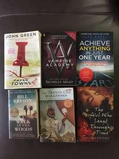 Books assorted novels:
