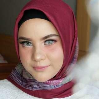 Jasa Make Up + Hijab do + Hair do