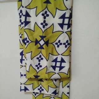 Pre-folded silk scarf