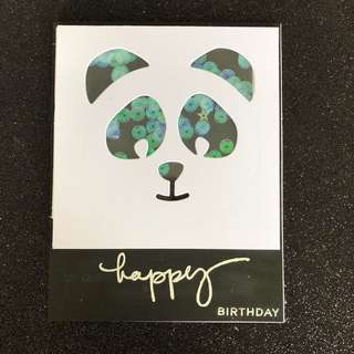Panda birthday shaker card