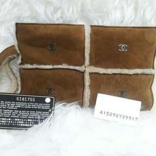 Authentic Chanel Clutch Fur Limited #6 2nd Clutch in Excellent Condition 🍰🎂🌹