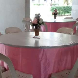 Renting Chair Table Tentage Lighting & Table Skirting