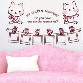 Cat frame living room bedroom warm decoration sofa wall TV wall stickers Home decor