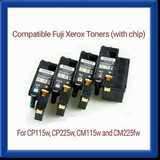 Brand New CT202264, CT202265, CT202266 and CT202267 Compatible Fuji Xerox Toners (with chip) for CP115w, CP225w, CM115w and CM225fw